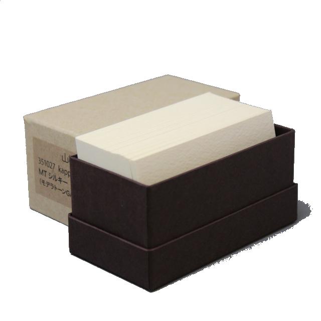 4 号 特価品コーナー☆ kappan 名刺 4号 MTシルキー 活版印刷用 枚 名入れ印刷なし 箱 有名な 100 紙の販売です