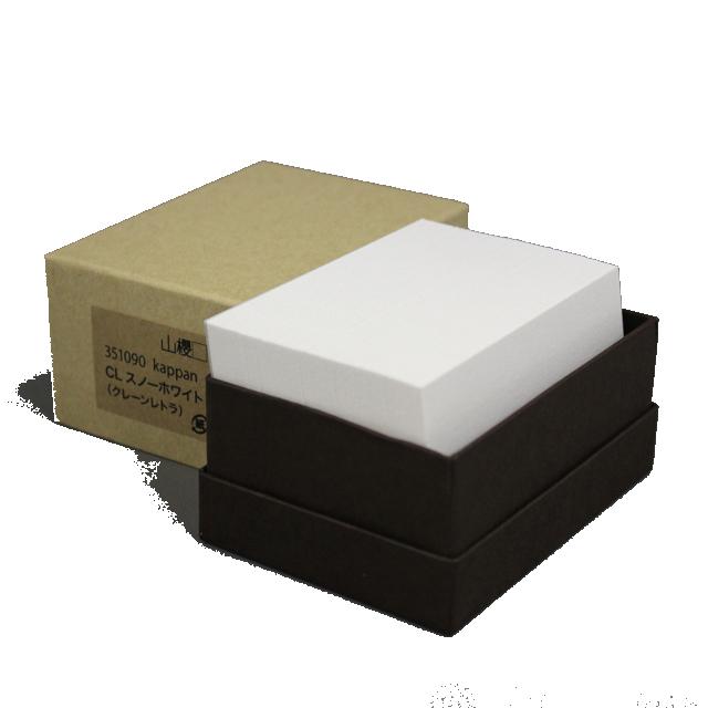 4 号 NEW kappan 名刺 4号 CLスノーホワイト 枚 箱 紙の販売です 活版印刷用 ついに入荷 100 名入れ印刷なし