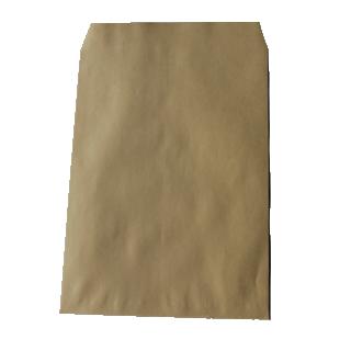 封筒 角2 OKクラフト テープ付 ( スラット ) ( 紙厚 : 100 )( 郵便番号の枠:なし)【スミ貼】 500枚