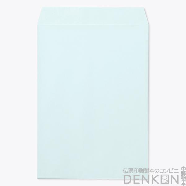 角2封筒 - ECブルー  - のり付き封筒: スラット (紙厚:100)(郵便番号の枠:なし)(中貼) 500 枚
