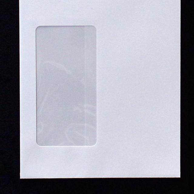封筒 白封筒 長3 スチック 窓付封筒 窓 45×90mm 特白 100g センター貼 枠入 1000枚 mb2103
