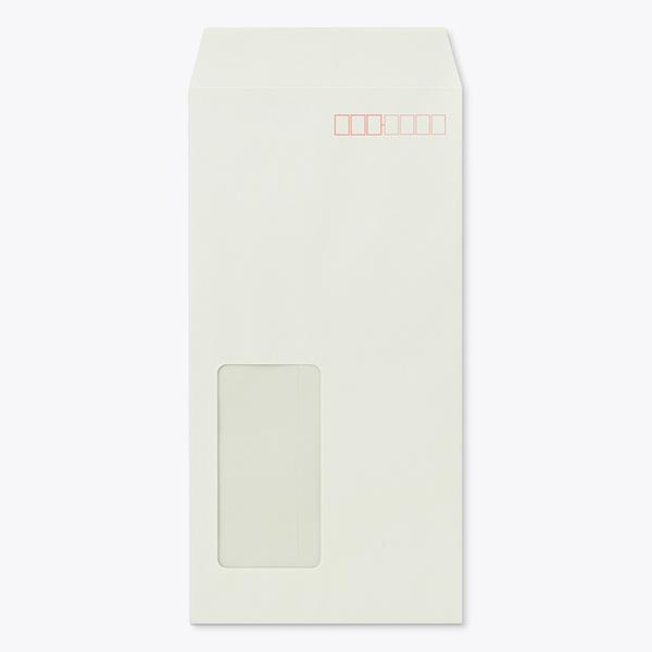 封筒 長3 A724W (ECグレイ) 窓付 サイズ:45×90mm ( 紙厚 : 80 )( 郵便番号の枠:あり )( 中貼 ) 1000枚
