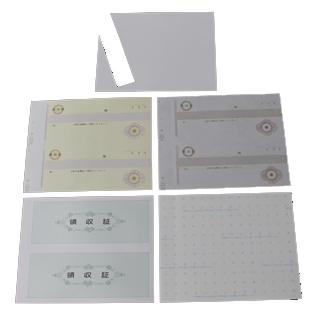 複写式領収証 小切手サイズ 2面付 文字入 黄 RC-204