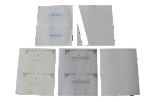 複写式領収証 大判サイズ 2面付ドブ付 文字入 緑 RC-2274