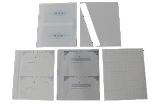 複写式領収証 大判サイズ 2面付ドブ付 文字入 紫 RC-2284