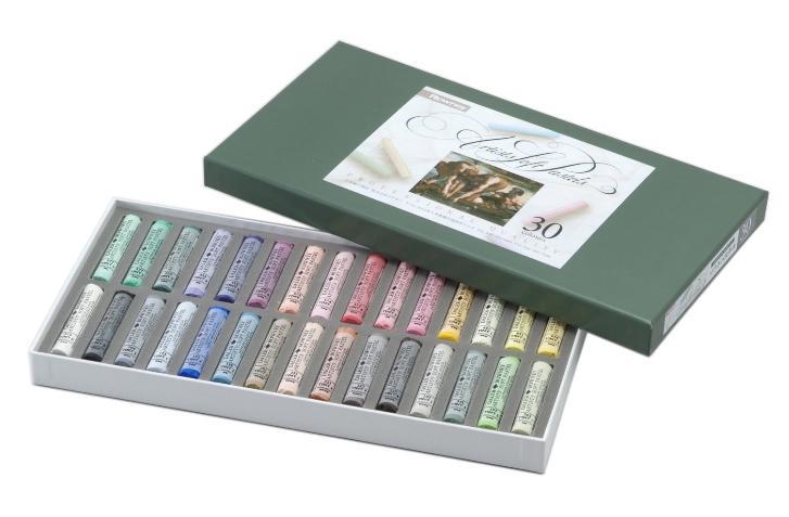ラウニー ソフトパステル 30色セット 紙箱セット