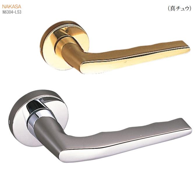 真鍮レバーハンドル 丸座 空錠・チューブラ空錠・表示錠・間仕切錠取替用のドアノブ、ドアレバー。室内ドア建具の取手をDIYで取付 ドア 交換 リフォーム 新築 ドアハンドル バリアフリー取っ手 おしゃれ