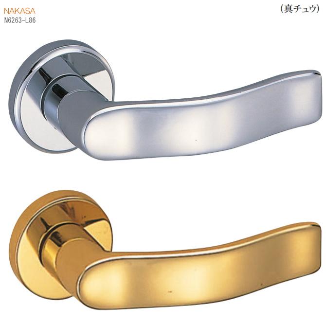 レバーハンドル 丸座 真鍮 ウェーブした平板デザインのドアレバー 空錠・表示錠・間仕切錠ドアノブ取替用ドアハンドル。室内ドア建具の取手をDIYで取付交換 リフォーム 新築 バリアフリー取っ手 おしゃれ