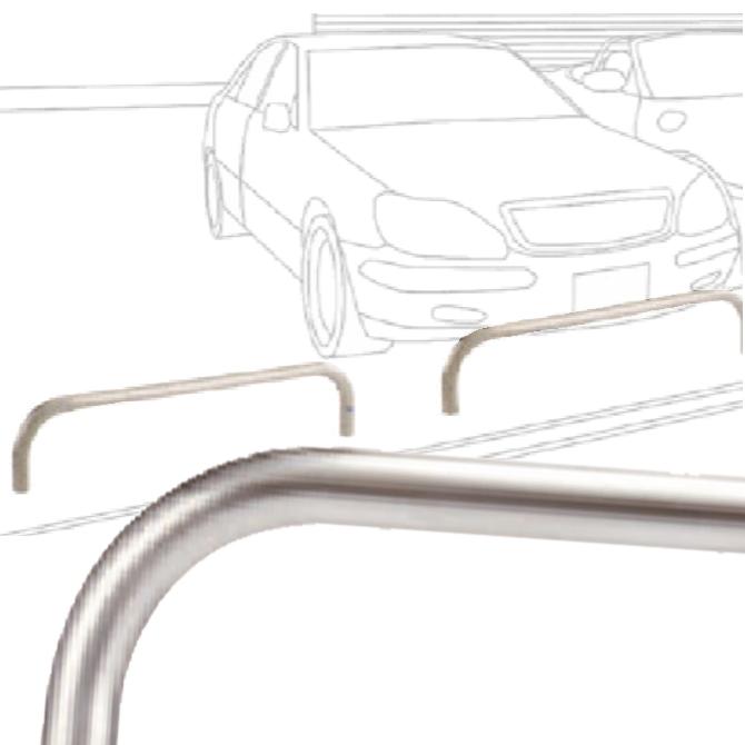 自動車乗り上げ防止用タイプ 横型バリカー 帝金バリカー |展示車防犯 駐車場  防犯対策 ショールーム