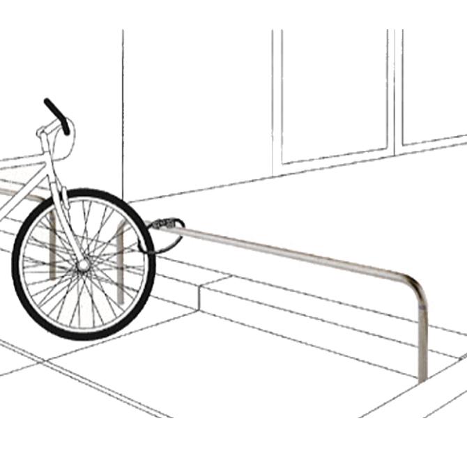 自転車車輪止め用 横型バリカー 帝金バリカー |駐輪場 スーパーマーケット ショッピングセンター パーキング バリカー 防犯対策 公園