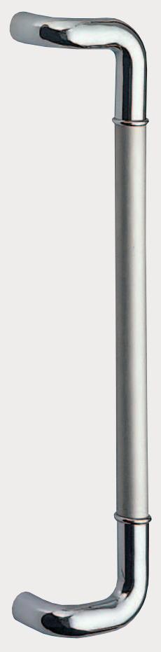 バーハンドル L形丸棒取手(両面用)【ロングハンドル】【取っ手】【把手】【ドアハンドル】【ヒンジ扉】【ガラスドア】【金具・金物】【引手】【テンパー】【取替え】【玄関出入口】【DIY】No.210