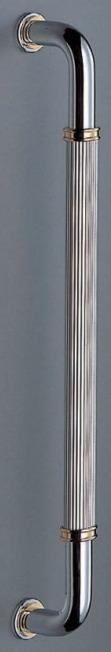 シャイヨ取手(両面用)真鍮 ドアハンドル(G・L)【DIY】【デザイン押し棒】【取っ手】【認証】