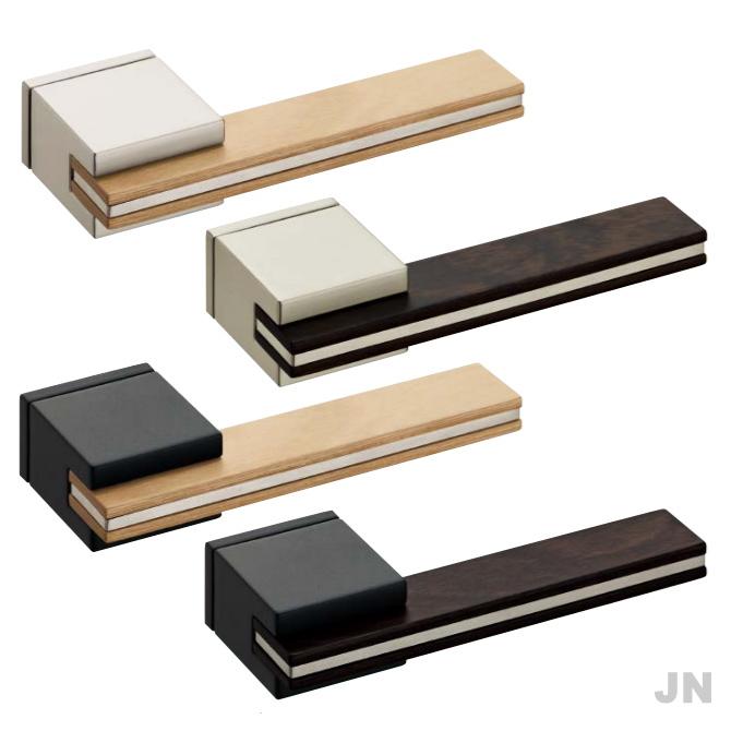 カワジュン製レバーハンドル JN 角座 KAWAJUN(装飾プレート付き)空錠・表示錠・間仕切錠外れたドアノブレバー交換修理はDIYで簡単。握り玉からドアレバーに取替えて楽に開閉。トイレ用の錠付きドアグリップやかっこいいシンプルでモダンな取っ手に取り替え