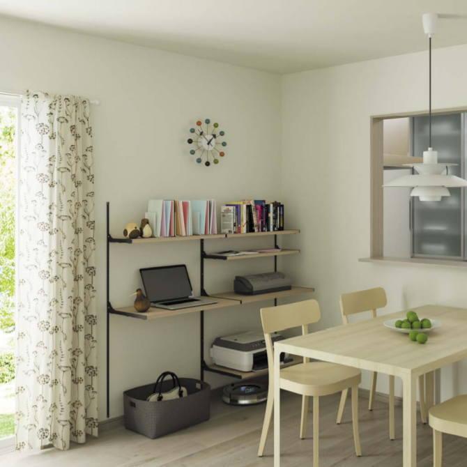 壁面主婦の収納ラックセット システム収納棚 タボレール【みごと棚】