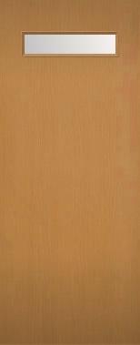 室内ドア 木製建具 上部ガラス組込み NR-04