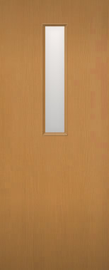 木製建具 室内ドア NR-06 上中央ガラススリッド組み込み 【認証】