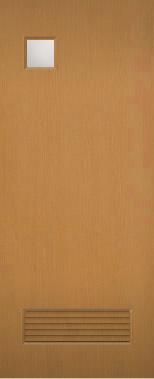 激安/新作 木製建具 室内ドア NR-19 ガラス窓組み込み 通気口付き 【認証】:窓工房 ナカサ-木材・建築資材・設備