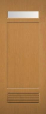 木製建具 室内ドア NR-38 ガラス組込み 通気口付 【認証】