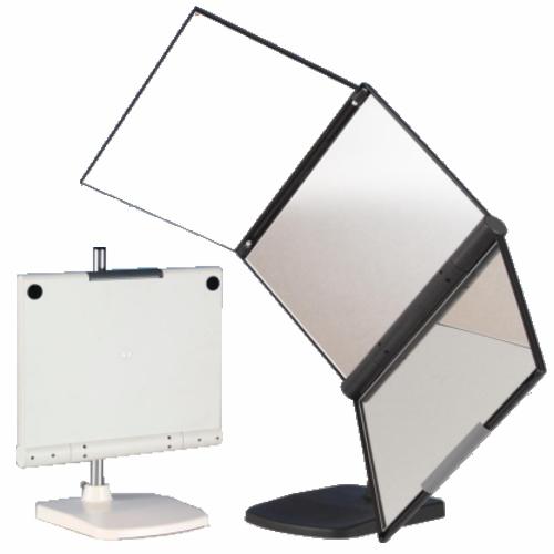 【基本宅配便送料無料】 『3WAY 回転 三面鏡 MX-360ZS ブラック/ホワイト』