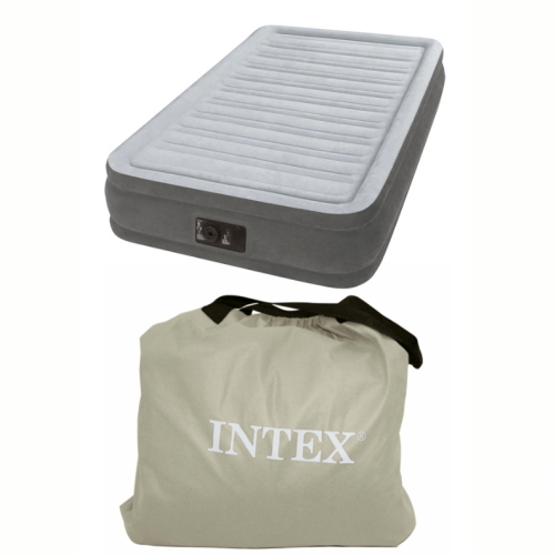【基本宅配便送料無料】 『INTEX エアーベッド ツインコンフォート ミッドライズ シングルサイズ 67765JB』