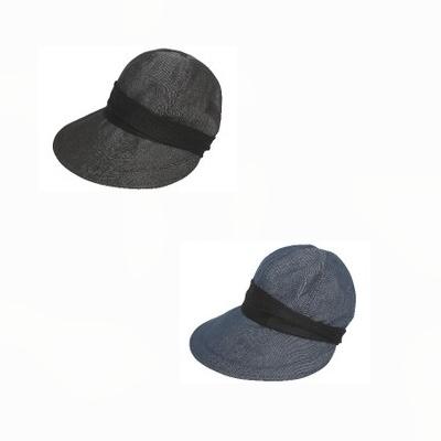 11cmの大きいつばで日差しをしっかりカット デニムカジュアルで上品なクロッシェ帽子 洗濯OKいつでも清潔 ひんやり冷たい接触冷感 内側メッシュ加工で蒸れにくい ※ゆうパケット送料無料※ 選択 小顔に見える CoolPro デニムブラック UVカット 帽子 SALE デニムブルー デニムクロッシェ