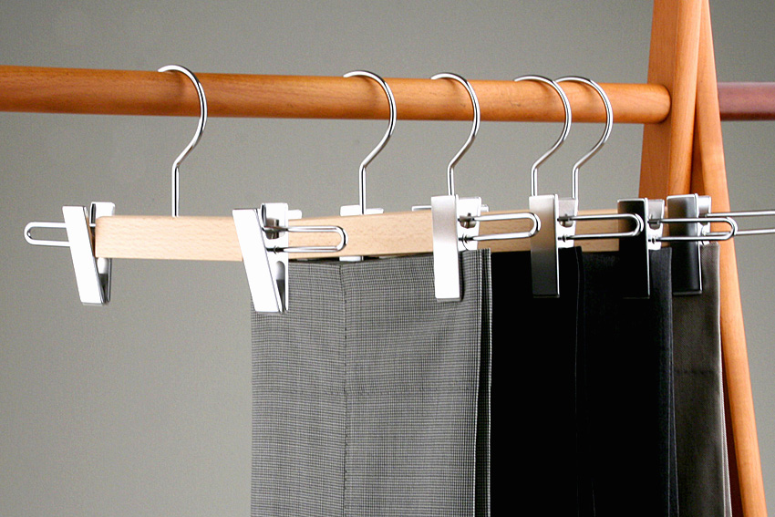 AUT-10/ wooden underwear hanger / clear coating