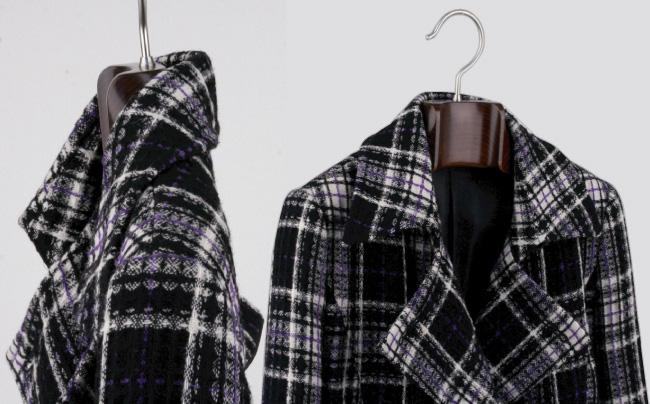 AUT-02S/ wooden Lady's jacket hanger / Mars brown