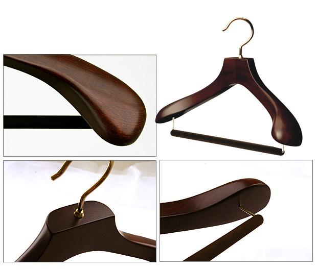 AUT-05 / men's suit wooden hanger (marsbrown)