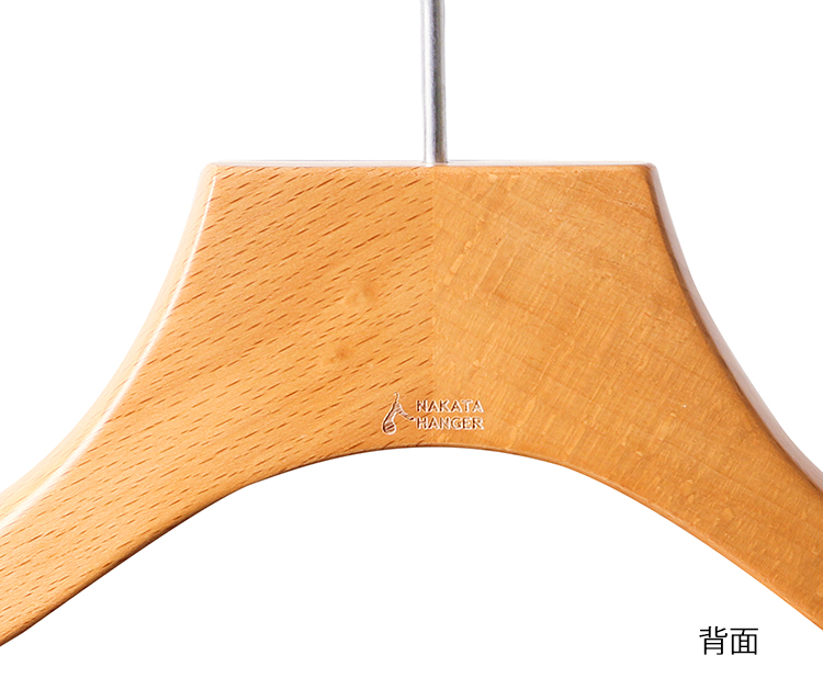 AUT-09S/ wooden Lady's shirt hanger / almond