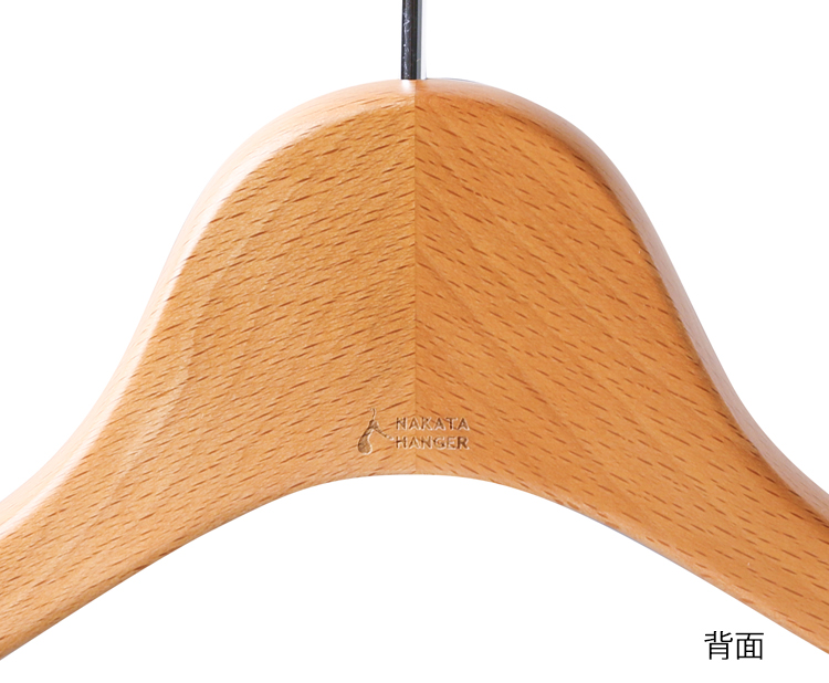 AUT-06 / wood men's jacket hanger (Almond)