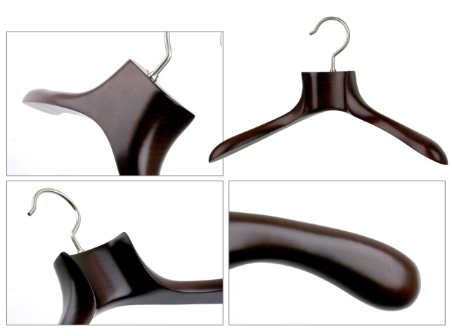 NH-3S/ wooden Lady's jacket hanger / Mars brown