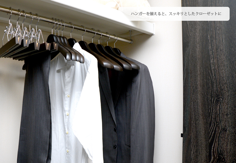 SET-01(毡酒吧)/木制人西服衣架5部组(烟棕色)