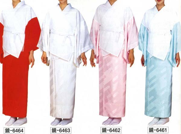 二部式襦袢 半襦袢・東スカートセット 《赤/白/ピンク/水色》M/L Np97 6464_6461