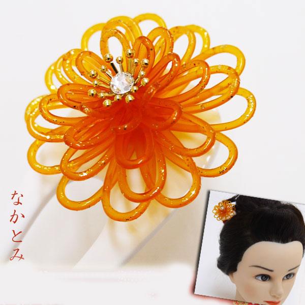 パーティー フォーマルからお洒落着・浴衣にも 和装髪飾り  菊細工 白かんざし 030-0618