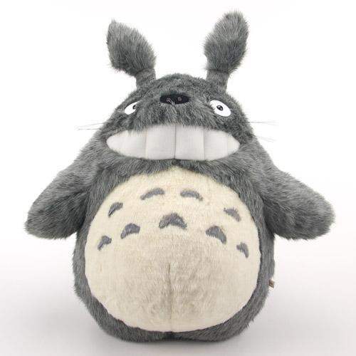 スタジオジブリ(STUDIO GHIBLI)となりのトトロ大トトロ笑い濃いグレー LL スタジオジブリのゆかいな仲間たち!♪《人気キャラクター