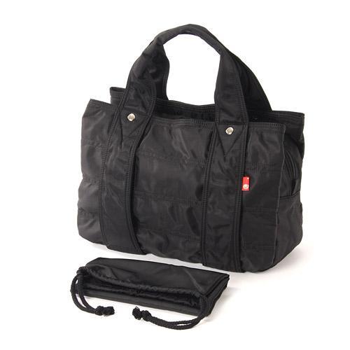 macaronic style(マカロニックスタイル)ナイロンあおりトートバッグ ブラックマカロニックスタイルのナイロン魅力のトートバッグ!♪《お買い物合計金額6,800円で送料無料!》