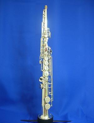 【ヴィンテージ管楽器】アドルフ・サックス ソプラノサックス銀メッキ  Adolphe Sax(息子)1907~1928年製【調整後発送】【送料無料】【中古】