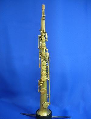 【ヴィンテージ管楽器】アドルフ・サックス ソプラノサックスノーラッカー Adolphe Sax(父) 1855年製【調整後発送】【送料無料】【中古】