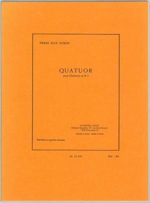 【クラリネットアンサンブル】デュボア 四重奏曲 4CL出版:Alphonse Leduc社グレード:C 【追跡メール便OK】
