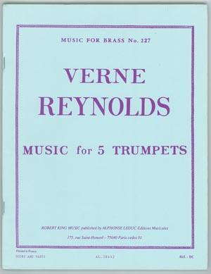 【トランペットアンサンブル】レイノルド 5本のトランペットのための音楽5TP出版:Robert King社グレード:B 【追跡メール便OK】