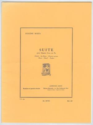 【ホルンアンサンブル】ボザ 組曲 4HN出版:Alphonse Leduc社グレード:C 【追跡メール便OK】
