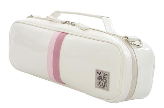 NAHOK ピッコロ用 ケースカバーホワイト/ピンク・ローズライン アクアガード付き(91002AWP)【お取寄せ商品】