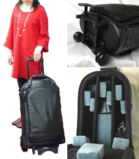 【送料無料】GARD BAGS ガードバッグストランペットトリプルケース ナイロン製ウィリーシリーズ (キャスター付き)GTTN-BK 【お取り寄せ】