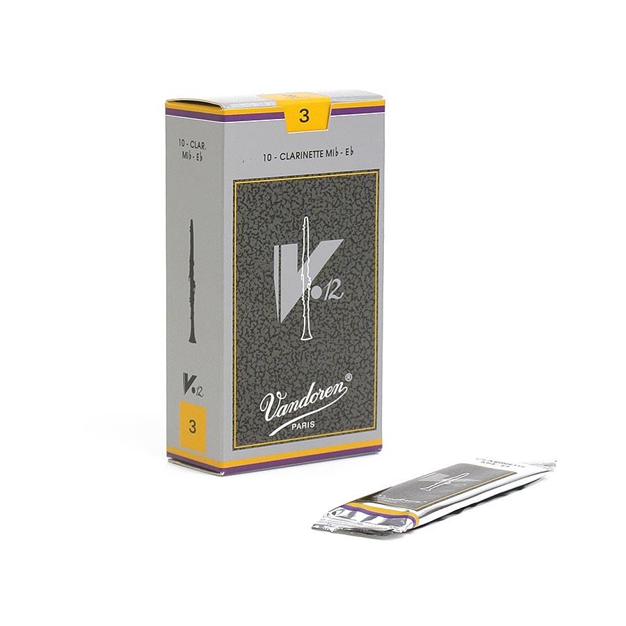 Eb エス クラリネットリードバンドレン バンドーレン Vandoren V12 銀箱 追跡メール便 激安超特価 10枚入り 日本正規代理店品 管楽器専門店 2箱までOK