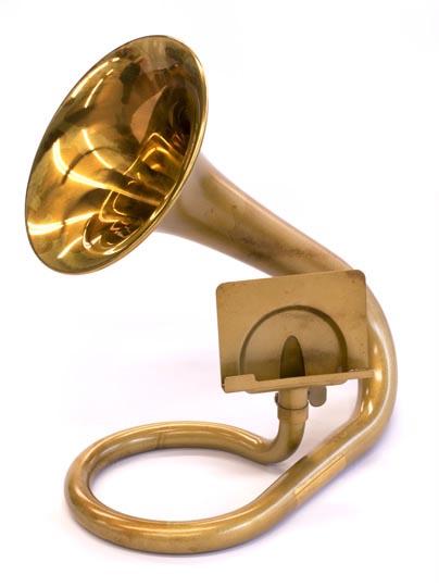Carol Brass キャロルブラス デスクトランペットスマートフォン、タブレット用スピーカー
