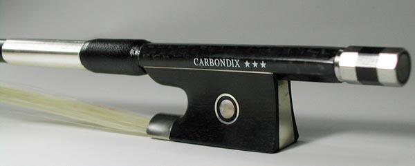 今なら弓ケースプレゼント! 4/4 カーボン弓 CARBONDIX***カーボンファイバー製バイオリン用 60.0~61.0g前後