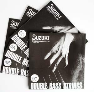 スズキ SUZUKI コントラバス弦セット 1g・2d・3a・4e 【メール便・定形外郵便OK】