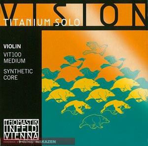 【送料無料】で断然お得!Thomastik (トマスティーク) VISION TITANIUM SOLO (チタニウム ソロ) バイオリン弦 4/4用セット
