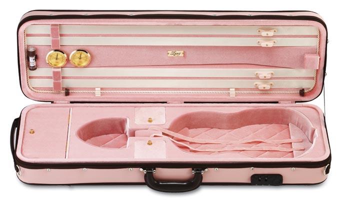 【4/12限定・エントリーで全品P2倍】バイオリンケース LANG(ラング) CK-66 ピンク/ピンク 【お取り寄せ商品】
