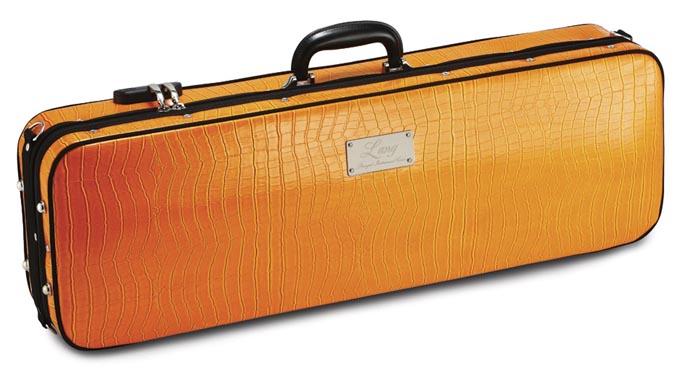 【5/10エントリー最大P6倍】バイオリンケース LANG(ラング) SA-54 オレンジ/ダークブルー 【お取り寄せ商品】